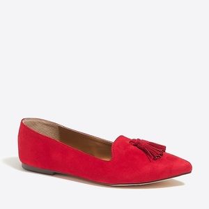 J. Crew Edie Suede Loafers with Tassels